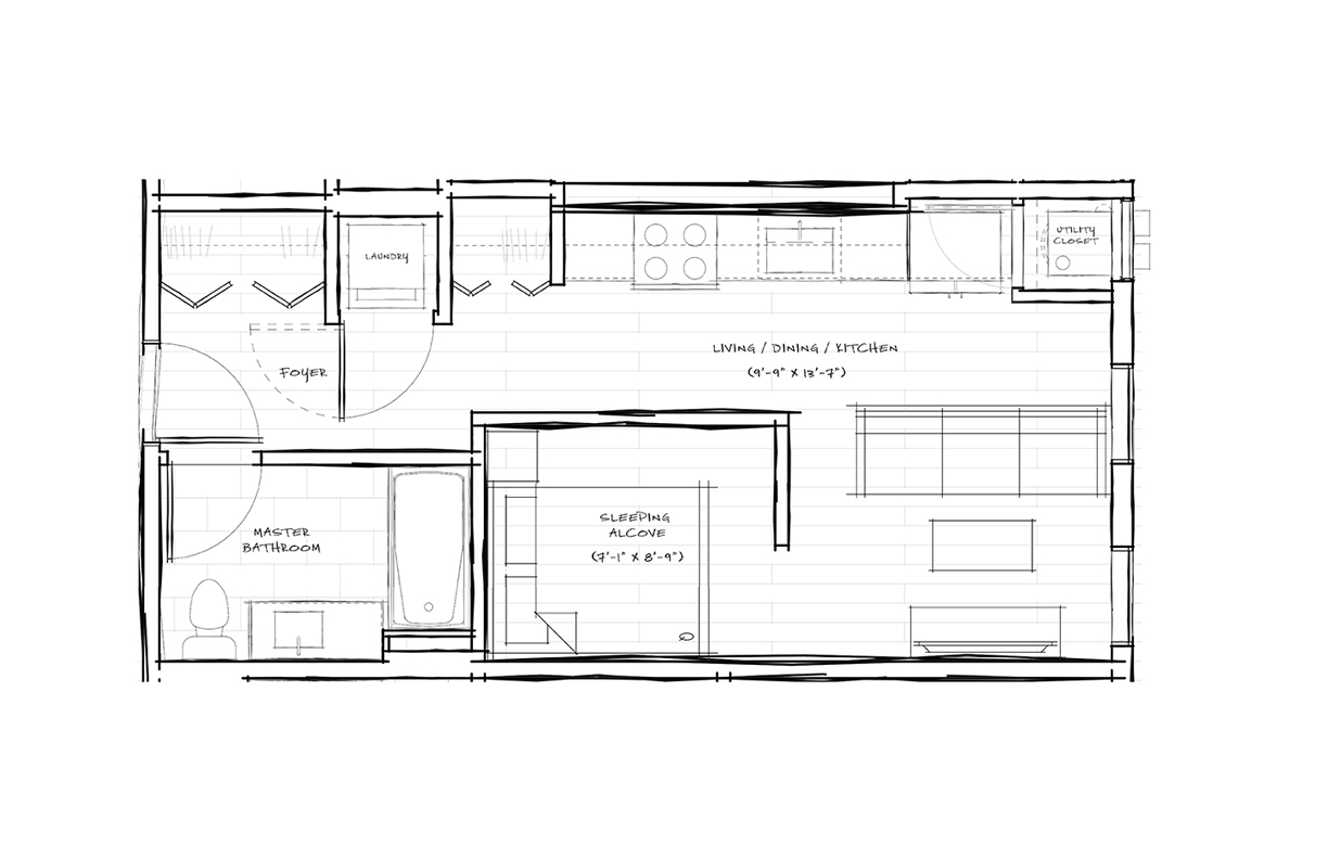 Residential Floor Plans - Cannery Flats